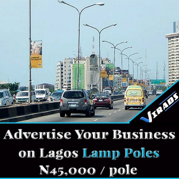 Cost of Advertising on Lamp Poles in Lagos Nigeria