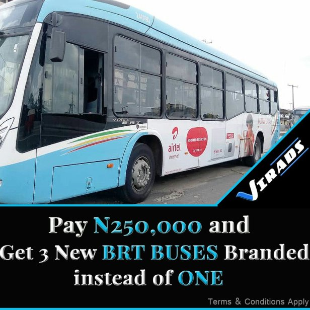 BRT BUS BRANDING Service cost in Lagos Nigeria